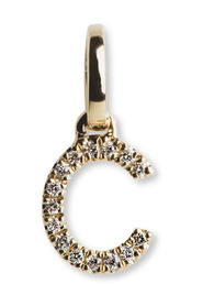 Letter Pendant with Diamonds, 18 carat gold