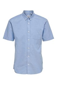Short sleeved shirt Solid colored