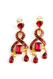 chrystal clip on earrings