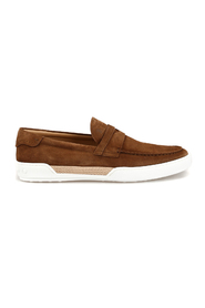 Suede loafer style sneakers