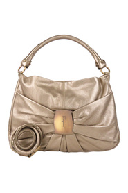 Vara Metallic Satchel Leather Calf
