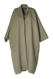 Double-faced coat with 2 side pockets