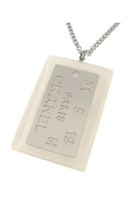 Logo Plate Pendant Necklace