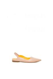 Sandalo slingback in pelle