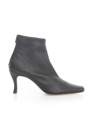 STEVIE BLACK STRETCH LEATHER BOOTS