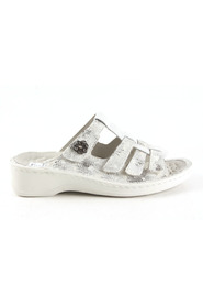 off white zilver Stuppy 1553-517-029 slippers