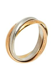Pre-owned 18K Three Tone Gold Ring