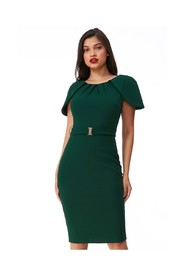 Dress with sheath sleeves