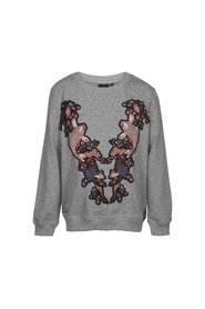 Petit by Sofie Schnoor - Sweatshirt, Fish - Grey Melange