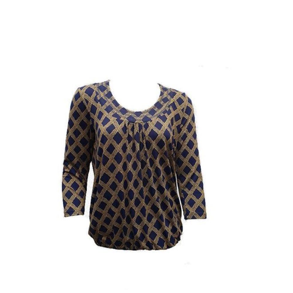 Blouse Pil Curry Check