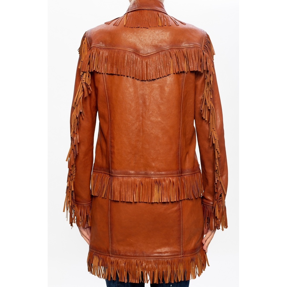 Dsquared2 BROWN coat with fringes Dsquared2