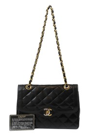 Matelassé Double Flap Bag, Chain Shoulder