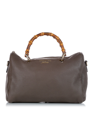 pre-owned Bamboo Leather Satchel Leather Calf