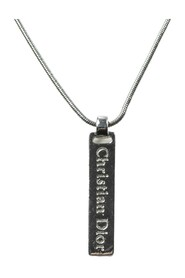 Pre-owned Logo Plate Necklace