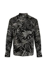 Tropical Print Long-Sleeve Shirt