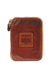 Small leather wallet with zipper