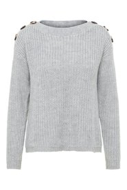 Knitted Pullover Shoulder Button