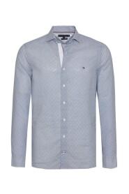 Slim Cotton Linen Printed Shirt