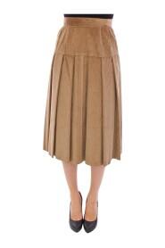 Leopard Corduroy Long Skirt