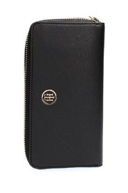 TOMMY HILFIGER AW0AW04281 HONEY LARGE WALLET WALLET Women BLACK