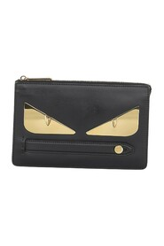 Pre-owned Monster Leather Clutch Bag