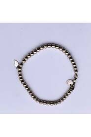 Sterling Silver Small Beads Bracelet Drop Charm