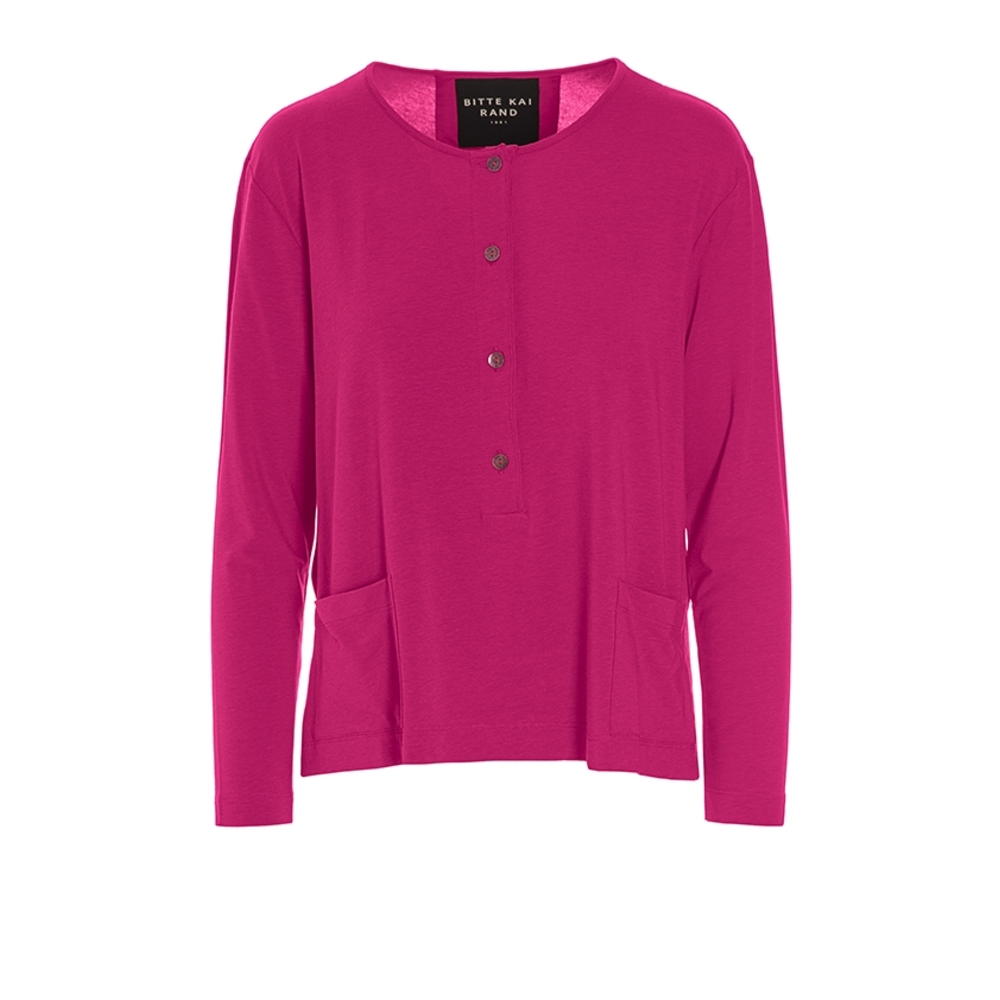 ATLAS JERSEY BLOUSE WITH POCKET