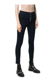 Lillie High-Rise Beskåret Skinny Jeans