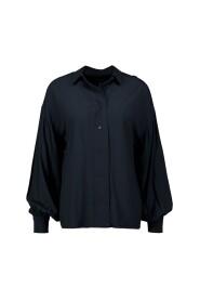 Drapey puff sleeve shirt