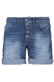 denimshort P88 Please/blauw