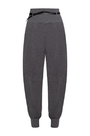 Cashmere trousers with belt