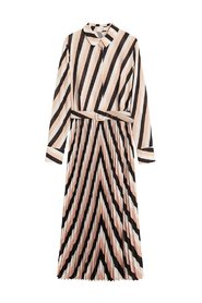 Midiklänning geometriskt mönster