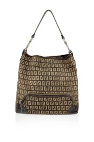 Brown Monogram Zucchino Canvas Tote Shoulder Bag