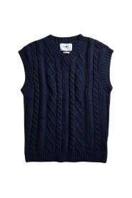 Jordan cable-knit sleeveless sweater
