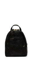Glitter effect leather backpack