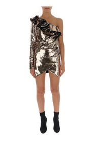 Sequined one-sleeve dress