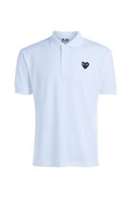 Polo PLAY hvid t-shirt med sort hjerte