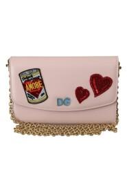 Amore Patch Shoulder Leather Bag