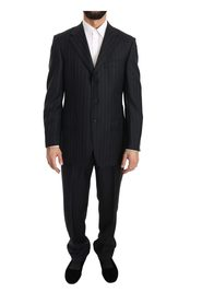 3 Button Wool Striped Suit
