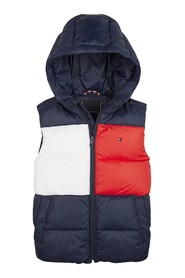 TOMMY HILFIGER KB0KB05317 FLAG PADDED VEST JACKET AND JACKETS Unisex Boys BLACK IRIS
