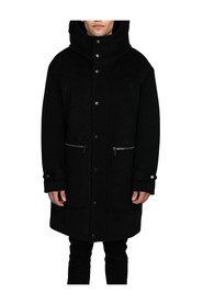 Button-Up Hooded Coat