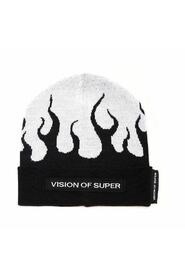 BEANIE WITH RED FLAMES