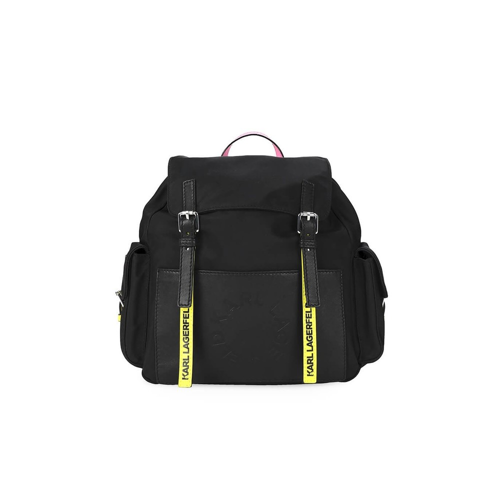 K/NEON BLACK BACKPACK