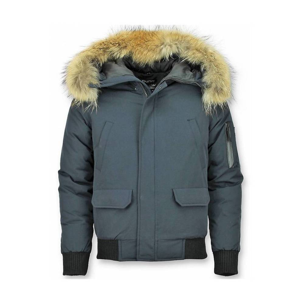 Kort Vinterrockjacka med Fur Collar Winter Jacket Men Canada