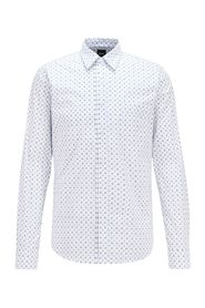 Stretch printed fitted shirt