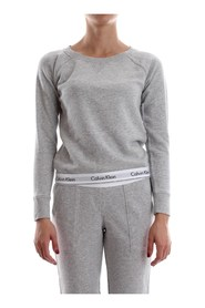 CALVIN KLEIN 000QS5718E TOP SWEATSHIRT SWEATER LONGWEAR Women GREY