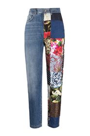 Jeans with Patchwork Inserts detail