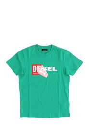 DIESEL TDIEGO 00J3ZN 00YI9 T SHIRT AND TANK Unisex Boys GREEN