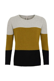 O-Neck Block Striped Jumper Genser D