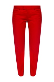 Branded pleat-front trousers
